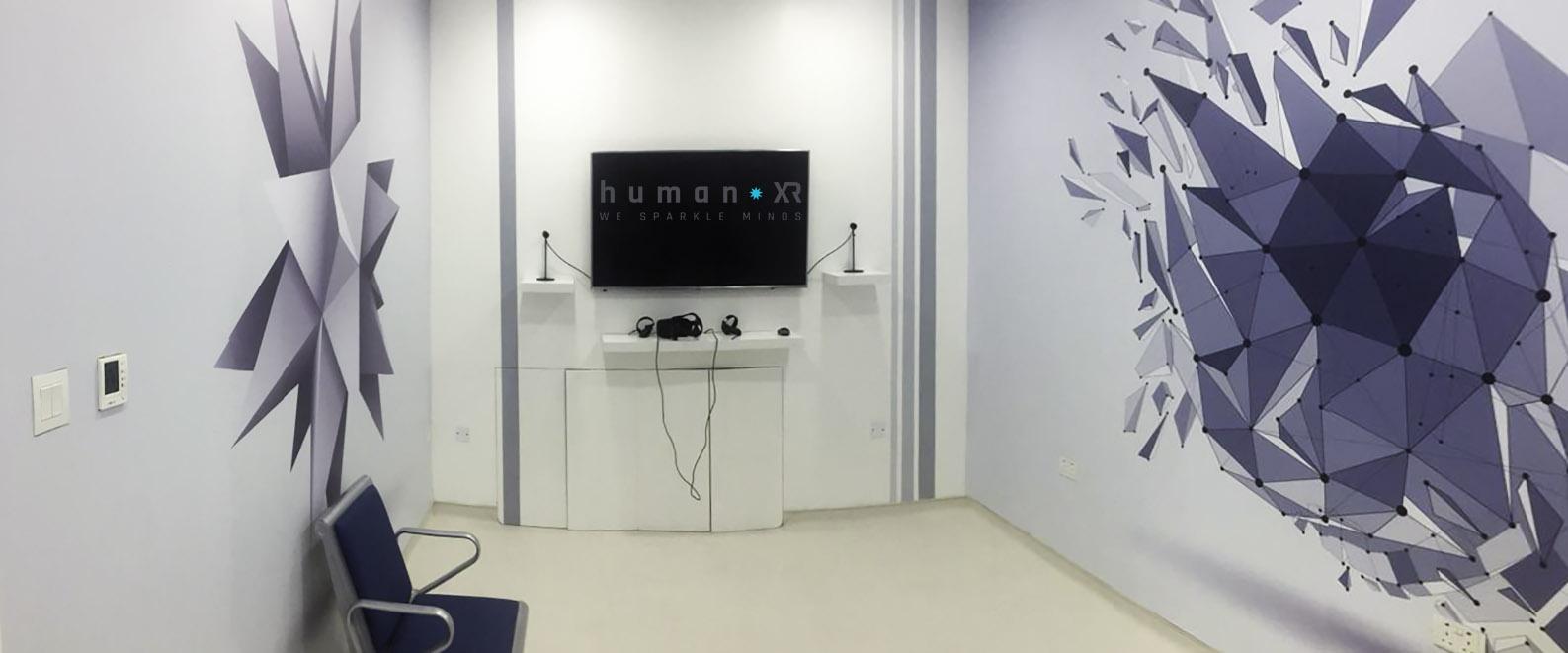 HumanXR VR room revalidatie ziekenhuis Dubai