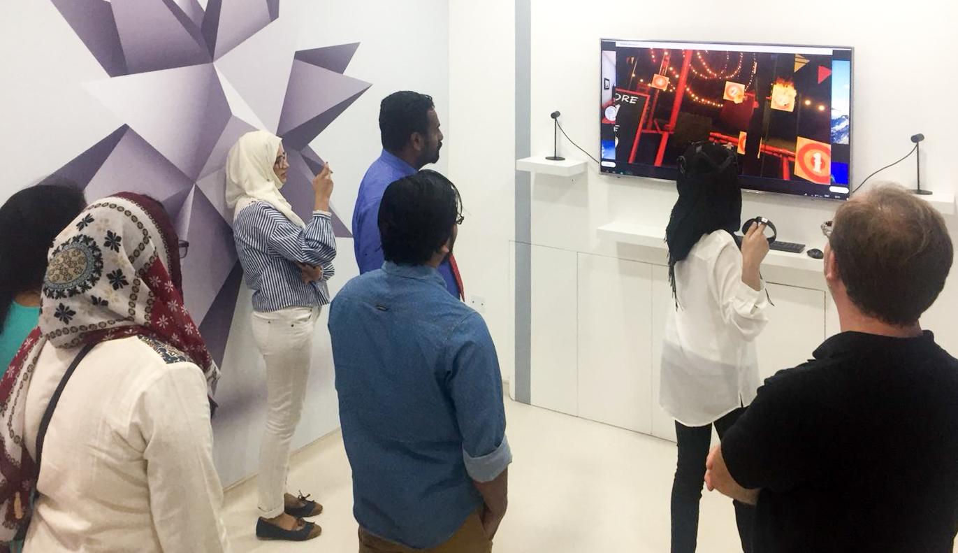 demonstratie VR systeem HumanXR