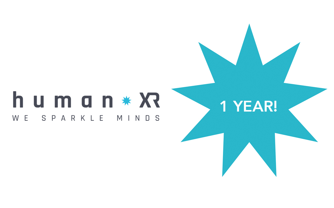 Our HumanXR VR-platform turns 1!