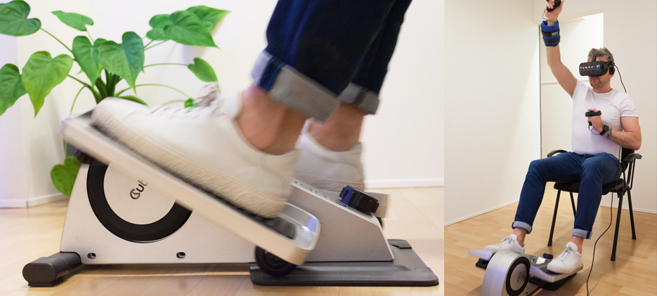 smart floorbike virtual reality for movement humanxr