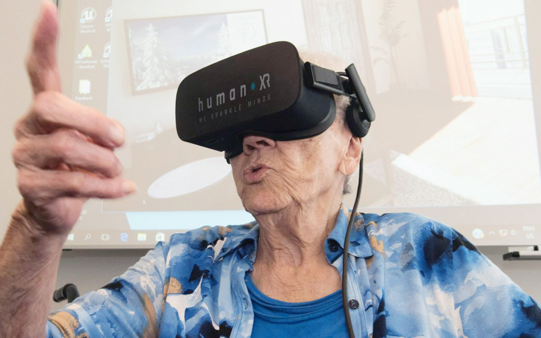 The start of HumanXR: Virtual Reality for elderly