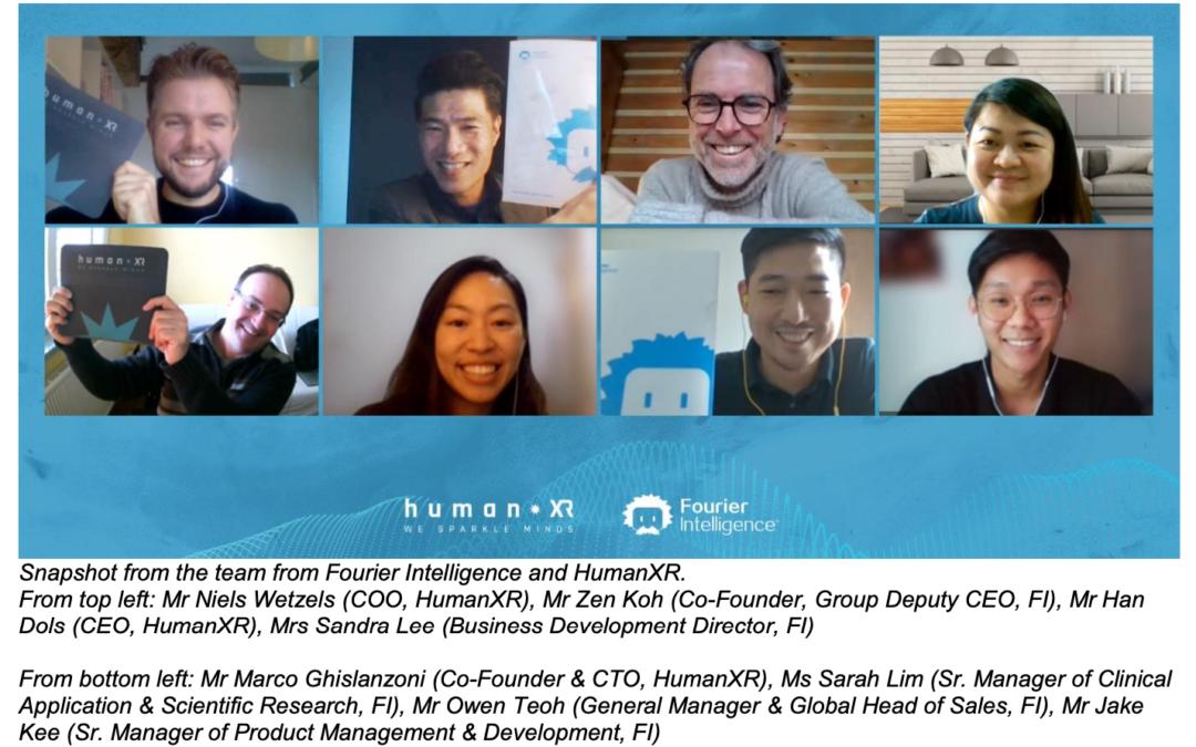 Fourier Intelligence en HumanXR gaan voor digitale revalidatie